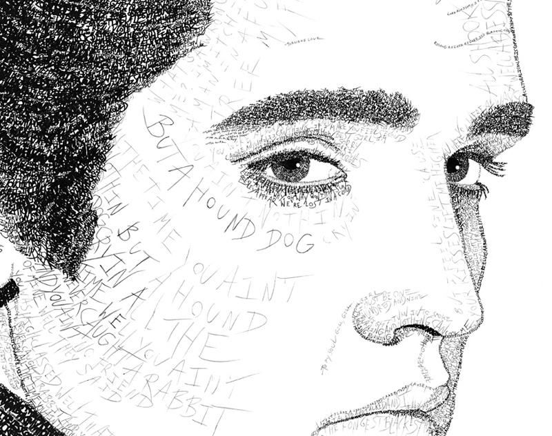Elvis Presley Art for Sale - Word Art | Edmonton, AB, Canada