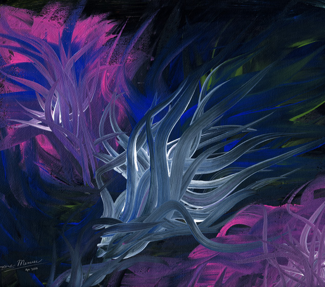 Entwined in Darkness Abstract Painting