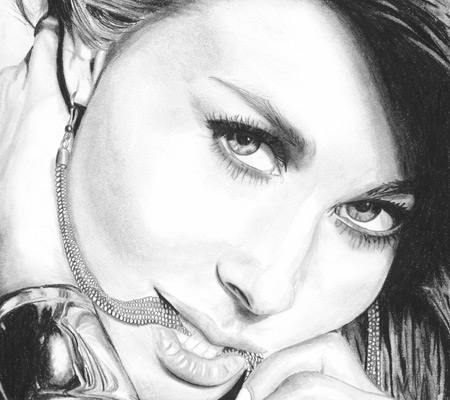 Carmen Electra Artwork Sketch