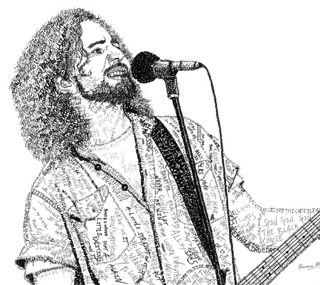 Eddie Vedder (Pearl Jam) Word Art