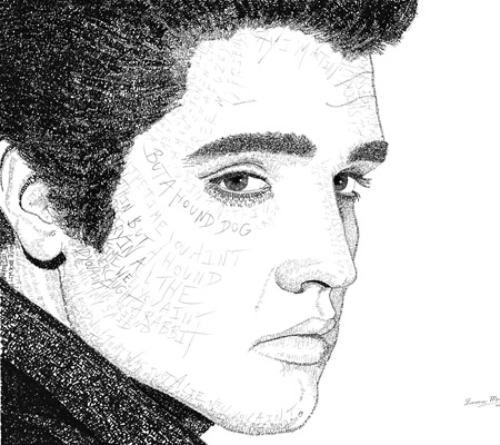 Elvis Presley Word Art