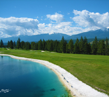 Golf Course by the Mountains Digital Photography