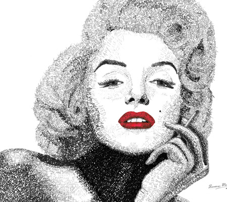 Marilyn Monroe Word Art
