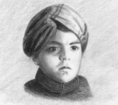 Master Madan (Child) Pencil Sketch