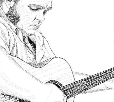 Matt Andersen Worded Ink Drawing