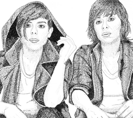 Tegan and Sara artwork for sale in Canada