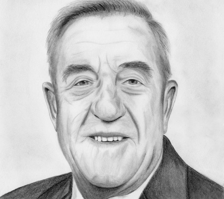 Tom clark pencil sketch