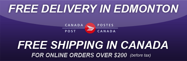 Free Delivery in Edmonton, Free Shipping in Canada